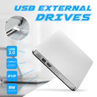 External DVD Drive Combo Player CD-RW Burner USB 2.0 For Notebook PC Desktop Mac