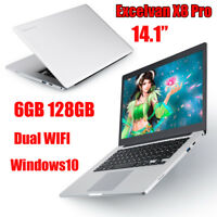 14.1''1920*1200 Intel Windows10 6GB 128GB 2*WIFI USB3 Gaming Laptop Notebook NEU