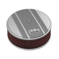 Holley 120-161 Round Raw Finned Air Cleaner, Reusable Filter, 14 x 4