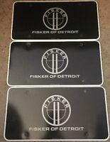 Set of 3 Fisker of Detroit License Plate Insert