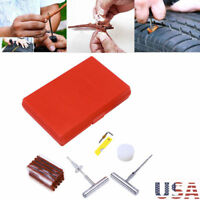 57pcs Tire Repair Kit Plug DIY Flat Tire Repair Car Truck Motorcycle Mend Patch