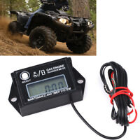 Go Kart Waterproof Fit ATV UTV Engine Digital Tach Hour Meter Gauge Tachometer