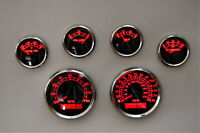 6 Gauge set w/senders,Speedo,Tacho,Oil,Temp,Fuel,Volt, BWR