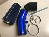 Stage 2 Cold Air Intake Raw w/ PG7 Filter for Powerstroke 6.7L 11-16-Blue