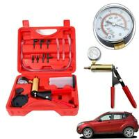 Hand Held Vacuum Pressure Pump Tester Set Brake Fluid Bleeder Bleeding Kit + Box