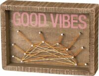 Primitives By Kathy Inset String Art Good Vibes Home Decor