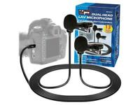 Vidpro Dual-Head Lavalier Microphone for DSLR for Smartphones & Tablets XM-DLS