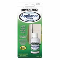 Rust-Oleum 203000 Appliance Touch Up Paint, 0.6 oz Bottle  White Solvent 6139869