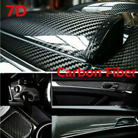 Car Interior Accessories Panel Black Carbon Fiber Vinyl Wrap 7D Sticker 12