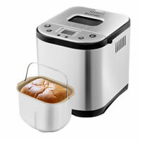 Automatic Bread Maker Stainless Steel Programmable 2LB Bread Machine Silver New