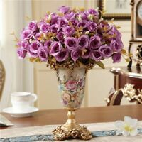 Home Furnishing Decoration Living Room Dining Room Table Vases Silk Flower Decor