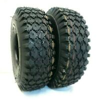 2 Pack 4.10/3.50-4 4Ply Stud Tire Cart Lawn Garden Dolly 410/350-4 Tubeless