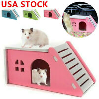 US Pet Small Animal Castle Hamster House Bed Cage Nest Guinea Pig Hamster Toy