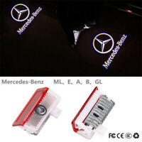 2PCS Logo LED Door Courtesy Light Ghost Shadow Laser Projector for Mercedes-Benz