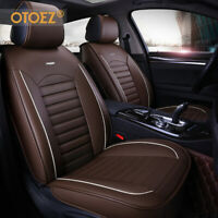 Leather Car Seat Cover Universal Fit Breathable 5 Seat Full Set Front Back Cover