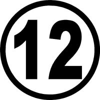 Racing Number 12 Decals for Car or Truck Stickers (7