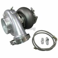 CXRacing GT45 GT45R Ball Bearing Turbo Charger 76mm T4 1.15AR + Oil + Flange