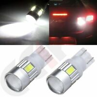 Projector 2x High Power Cree Bulb 6000K White 194 161 T10 15 LED Parking Light