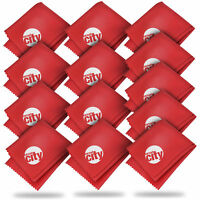 (13 Pack) Circuit City Premium Microfiber Cleaning Cloths - Red