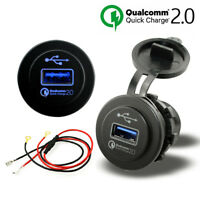 5V 2.4A USB Port Quick Charge QC 2.0 Car Charger Cigarette Lighter Adapter New