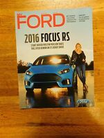 2016 FORD FOCUS RS EXPEDITION EDGE MYFORD DEALER PROMO MAGAZINE BROCHURE RARE