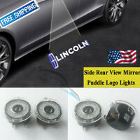 2PCS LED Side Rear View Mirror Puddle Logo Light For Lincoln MKS MKT MKX MKZ LS