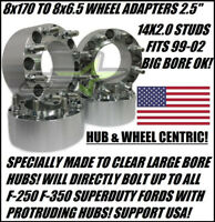 8x170 to 8x6.5 Wheel Adapters Chevy Rims On 99-02 Ford F250 F350 Superduty 2.5