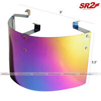Universal Stainless Air Intake Filter Neon Chrome Heat Shield Cover