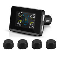 Wireless Car Tire Pressure Alarm Monitor System TPMS + 4 External Sensors MA1322