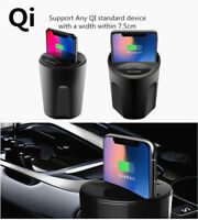 Car Cup Wireless Charger Fast QI Wireless Charging For Samsung iPhone X 8 Phones