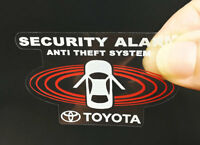 2 Toyota Car Alarm DECALS, Inside/Outside Glass, Security System Window STICKERS