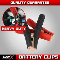 2Pair Jumper Cable Jump Starter 1300Amp Heavy Duty Battery Charger Clips Clamps