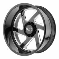 Moto Metal MO400 20x12 -44 Gloss Black Milled Wheel 6x139.7 (QTY 1)