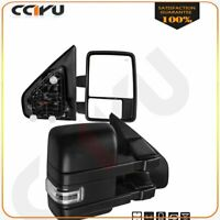 Towing Mirrors Pair For 04-2014 Ford F150 Power Heated Puddle light turn Signal