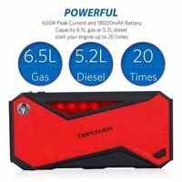 DB POWER 600 A - 1800 mAh Car Battery Jump Starter with Torch & Charging Port