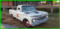 1961 Ford F-100  1961 Ford F100 Unibody Patina Truck, Shop Truck 292 V8 Mobil Oil