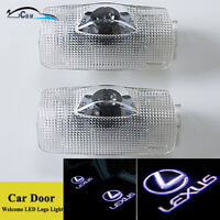 2x LED Projector Door Step Ghost Shadow Logo Lights For Lexus LS ES IS LX RX GX