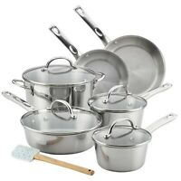 Ayesha Curry 11pc Home Collection Stainless Steel Cookware Set