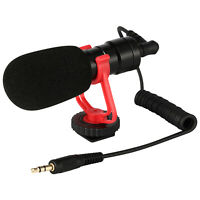 DSLR Camera Microphone Video Mic 3.5mm & Windshield Foam Cover for Nikon/Canon