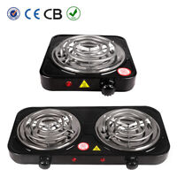 Electric Double / Single Burner Portable Hot Plate Countertop Stove Cooker 110V