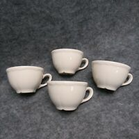 Homer Laughlin HLC USA Restaurant Ware 4 Coffee Tea Cups White Porcelain China