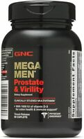 GNC Mega Men Prostate and Virility Multi Vitamins 90 Caplets - For Sexual Health