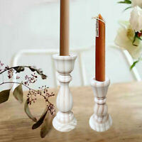 Wedding Party Supplies Dining Room Desktop Handmade Wood Candlestick Holder