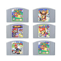 Mario Kart Super Mario 64 Party 1 2 3 Video Game Cartridge Nintendo N64 Console