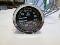 New Smiths Dual Water Oil Gauge Austin Healey 100-6 3000 Sprite Bugeye