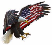 American Eagle American Large Flag Decal 12