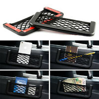 Car Storage Mesh Net Resilient String Phone Holder Pocket Organizer Universal