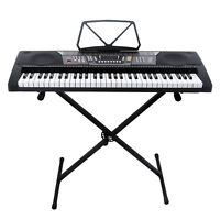 61 Key Music Electronic Keyboard Electric Digital Piano Organ with Stand