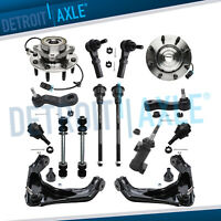 Chevy GMC Front Wheel Bearing Hub Assembly Upper Control Arm Kit 4x4 ABS - 8-Lug