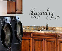 LAUNDRY WALL DECAL LETTERING VINYL WALL DECAL STICKER QUOTE HOME DECOR
